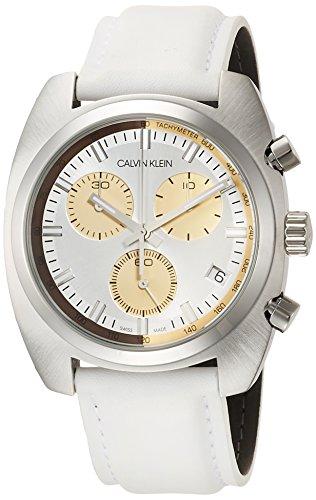 Calvin Klein Reloj Cronógrafo para Hombre de Cuarzo con Correa en Cuero K8W371L6