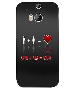 PrintVisa Romantic Love Quotes 3D Hard Polycarbonate Designer Back Case Cover for HTC One M8