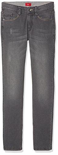 s.Oliver Jungen Jeans 67.709.71.2880, Grau (Grey/Black Denim Stretch 96Z2), 140 (Herstellergröße: 140/REG)