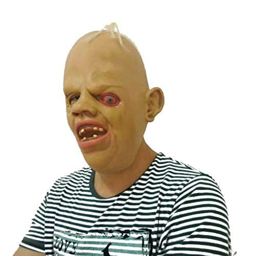 Burning Eyes Verstopfte Horror-Maske, Einäugige Dragon Movie Theme Halloween Party Naturlatex-Maske (Color : - Verstopfte Kostüm