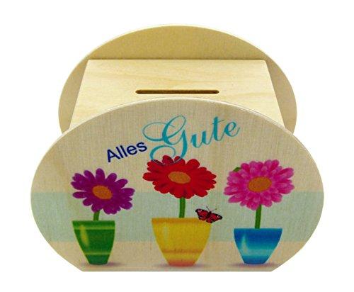 Hess Spielzeug 14548 - Spardose aus Holz, Alles Gute, ca. 12 cm Preisvergleich