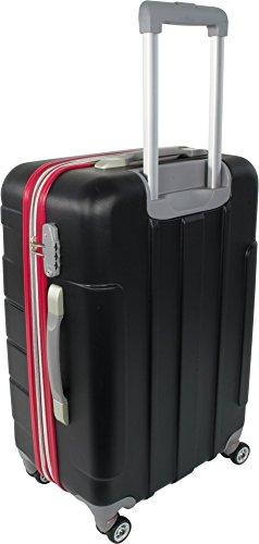 ABS Hartschalen Kofferset mit Leichtlaufrollen verschiedenen Motiven New/Generation/Schwarz/Rot