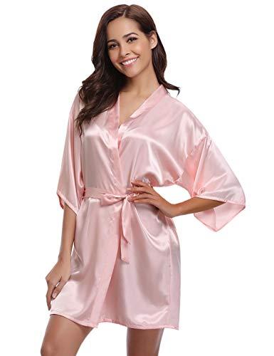 Abollria Kimono Mujer Bata Satén Mujer