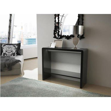 Tiffany Black High Gloss LED Console Table Search Furniture