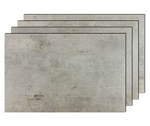 8er Premium Tischsets Steinoptik Beton-Grau | je ca. 43,5x28,5cm | je ca. 1,8mm | je ca. 150g | PVC-CV | rechteckig | abwaschbar | Gastro-Qualität | bazaaro Tischset