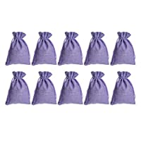 UPKOCH 12 Pcs Empty Drawstring Bags Lavender Sachet Bag Soft Gift Pouch Storage Bags Treat Bags Lucky Bags for Party Wedding Banquet (Purple)