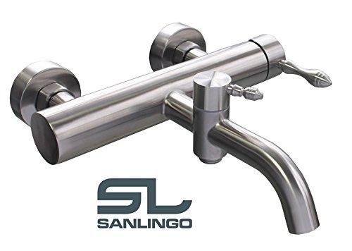 Sanlingo - Badewannenarmatur, komplett aus Edelstahl, Design-Einhandmischer