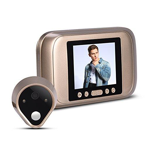 Vbestlife Home Safeguard Viewer Timbre Inteligente Visual Digital con 3.2 Pulgadas Pantalla LED 1MP HD Mirilla Electronica Timbre de Puerta para Seguridad de Casa/Oficina/Hotel