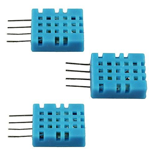 Preisvergleich Produktbild COM-FOUR® 3x DHT11 digitaler Sensor Feuchtigkeit- & Temperatur-Sensor für Raspberry und Arduino (DHT11 - 3 Stück)