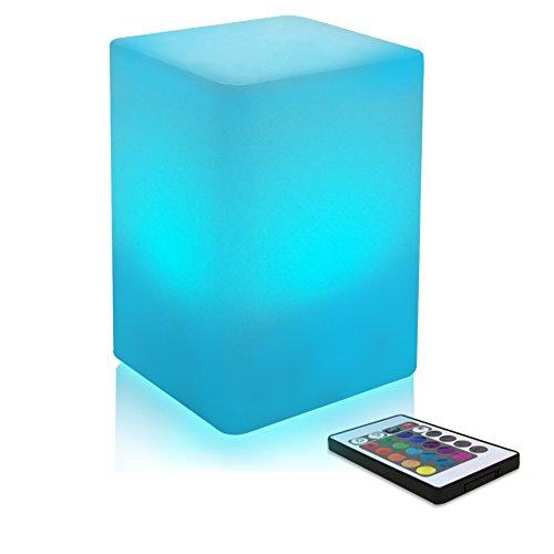 Schlafzimmer Nachtlicht Farbwechsel LED Stimmungslicht für Kinder und Erwachsene - 8 Level Dimming - 16 RGB Farben - Wiederaufladbare - Tisch Nachttischlampe mit Fernbedienung - 10 * 15cm