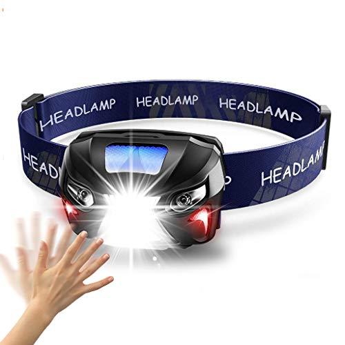 YS&VV 10000lm Stirnlampe mit usb wiederaufladbare led leistungsstarke Kopflampe körper motion sensor kopf Stirnlampen camping taschenlampe lampe für angeln wandern outdoor walking -