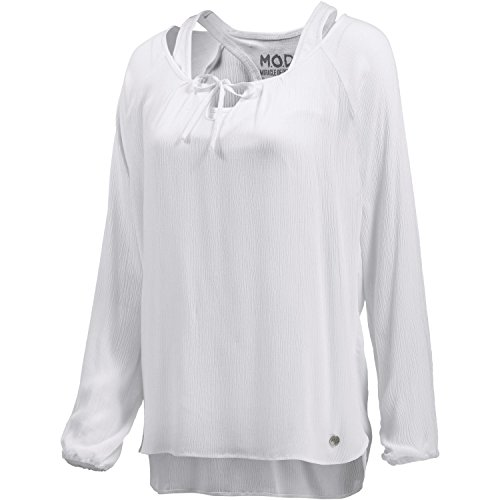 M.O.D Damen 2-in-1 Langarmshirt Weiß