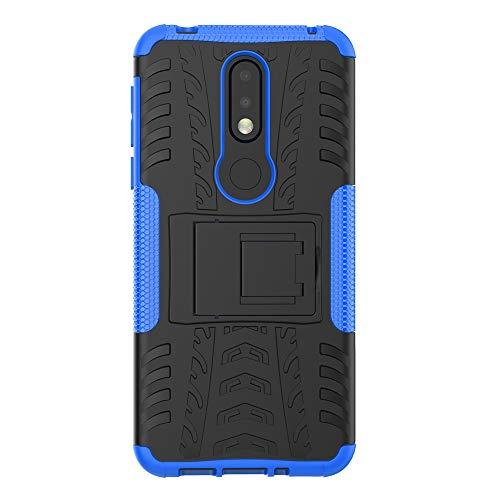 COVO® Nokia 7.1 Plus-Hülle Tough Hybrid Armor Case,Diese Handyhülle Anti-Wrestling Travel Essential Faltbare Halterung für Nokia 7.1 Plus(Blau)