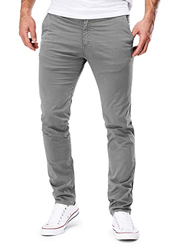 MERISH Chino Herren Slim fit Chinohose Stretch Designer Hose 401 (34-34, 401 Hellgrau) Liebe China