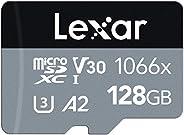 بطاقة ذاكرة 1066x ميكرو اس دي اكس سي السلسلة الفضية يو اتش اس-1 من ليكسار بروفيشنال مع محول بطاقة اس دي 160 مي