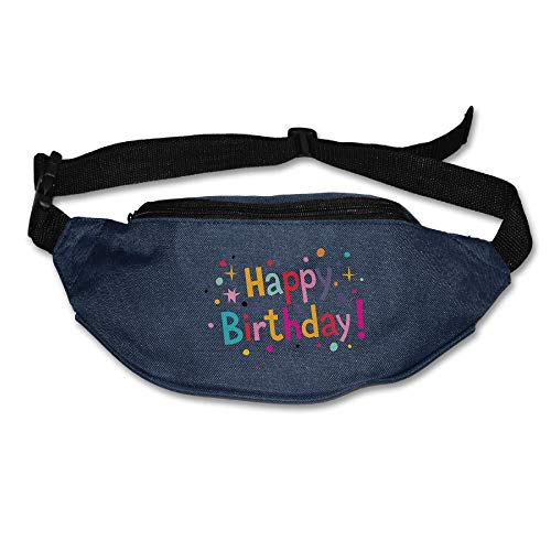 Waist Purse Happy Birthday Logo Unisex Outdoor Sports Pouch Fitness Runners Waist Bags