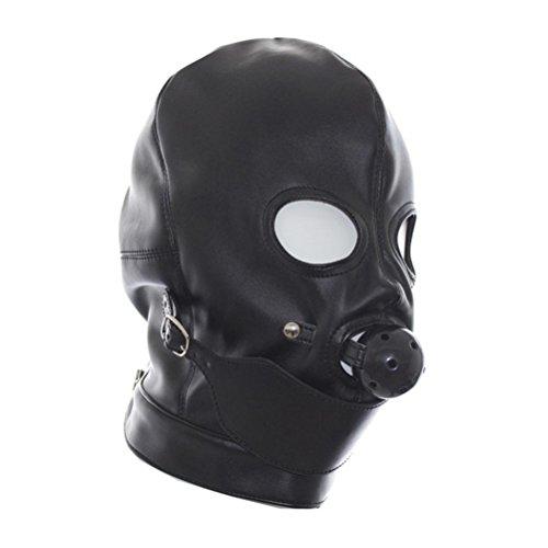 LIUYU Mundmaske Die Leistung Rollenmaske Maske des Erstickungsleders ausgesetzt Augenkugel