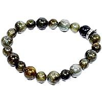Bracelet Labradorite 10MM + 8MM Birthstone Handmade Healing Power Crystal Beads preisvergleich bei billige-tabletten.eu