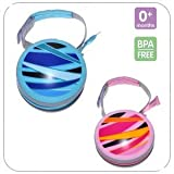 MAM Dummy / Pacifier / Soother Travel Case Pod in Pink or Blue (BLUE)