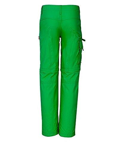 Trollkids Quick-Dry Zip-Off Hose Oppland Slim Fit, Indischgrün, Größe 158