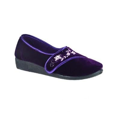 mirak damen hausschuhe trish 36 eur violett schuhe handtaschen. Black Bedroom Furniture Sets. Home Design Ideas