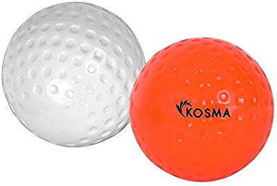 Kosma Juego de 2 PC Dimple Bola de Hockey, Naranja, Color blanco