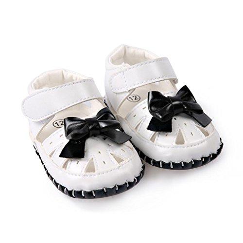 Clode® Bébé Enfant Kids Girl Soft Sole Crib Toddler nouveau-né chaussures (12~18 mois, Noir) Noir