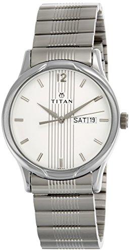 41PvkyruwbL - Titan NE1580SM03 Karishma Silver Mens watch
