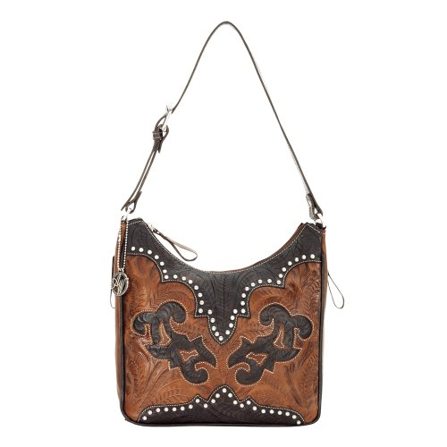 American West - Borse a spalla donna Marrone (Antique Brown/Chocolate)