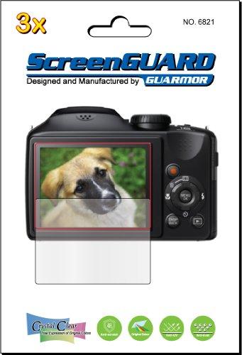 3x Fujifilm Fuji Finepix S6600S6700S6800S6850Digital Kamera Premium Clear LCD displayschutzfolie Cover Guard Shield Film Kits., exakte Passform, kein Schneiden. (Paket von GUARMOR) Lcd-hood Kit
