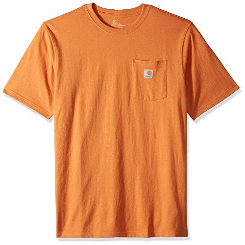 Carhartt Herren K87 Workwear Pocket Short Sleeve (Regular and Big & Tall Sizes) Arbeits-T-Shirt, Apricot Orange Heather, Large Hoch -