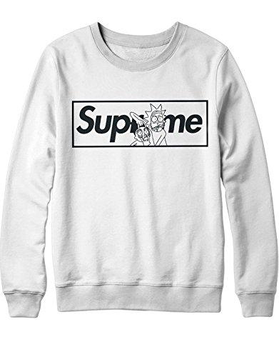 Sweatshirt Rick Supreme Parody Science C350017 Weiß