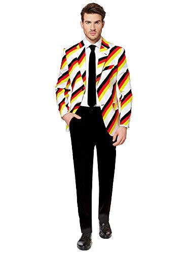 OppoSuits Deutschland Anzug für Herren - Halloweenkostüme mit bunten Prints - Komplettes Set: Jackett, Hose und Krawatte