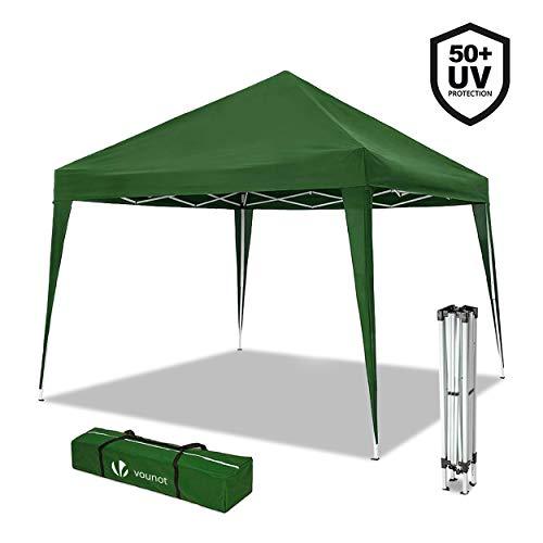 Nouvot Tonnelle de Jardin 3x3m Pliable | Tente Pliante de Jardin Rapide à Installer | Auvent Pliable pour Camping, Festival, Plage, Jardins | Inclus Sac de Transport