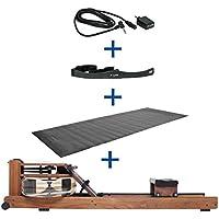 Preisvergleich für Water Rower Rudergerät Nussbaum + S4 Monitor Empfänger Brustgurt Bodenschutzmatte