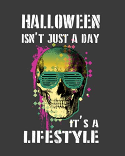 Halloween Isn't Just a Day It's a Lifestyle: Blank Recipe Notebook (Metal Heavy Halloween)