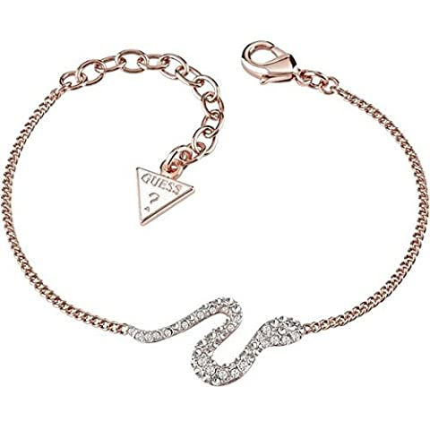 Guess Eden Ladies Rose Gold-plated Swarovski Crystals Bracelet UBB71538-L