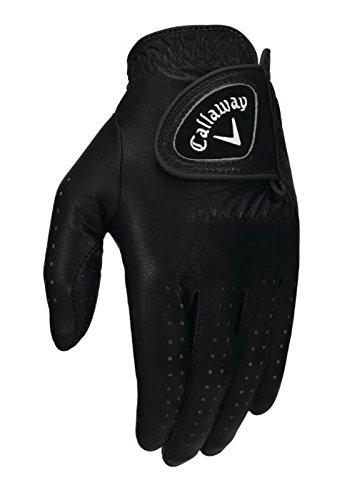 Callaway Damen Opti-Colour Handschuhe, Schwarz, M (Schwarz Golfhandschuh)