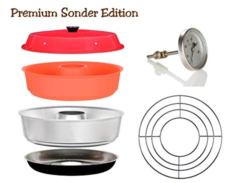 Sun and Ice Omnia Spar-Set 4-teilig - Backofen Premium Edition + Silikonform + Aufbackgitter + Profi Backofenthermometer -
