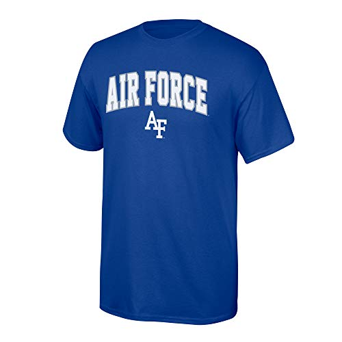 eLITe NCAA Herren T-Shirt NCAA Team Color Arch, Herren, NCAA T Shirt Team Color Arch, Air Force Falcons Blue, Large - Elite-basketball-tasche