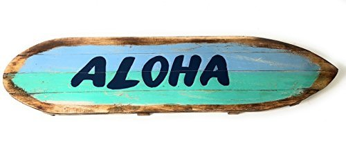 Norma Lily Aloha Rustikal Schild auf Holz Schild 61cm