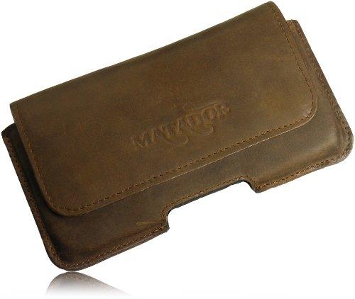 Exclusiv Slim Design in Old Style Vintage Antik custodia In vera pelle di Matador per Apple iPhone 6/6S (4.7) Custodia Marsupio custodia orizzontale con clip per cintura Special a mano p