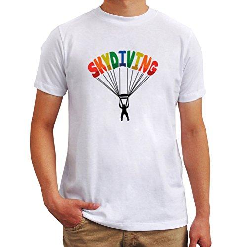 Maglietta Skydiving colors Bianco