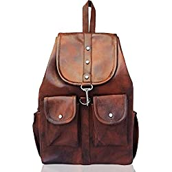 Typify Artificial Leather Casual Purse Fashion School Leather Backpack Shoulder Bag Mini Backpack for Women & Girls (Tan)