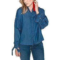 Levi's -Camisa Vaquera Manga Larga 56425-0000 -Camisa Mujer (Talla S)