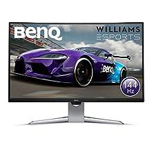 BenQ EX3203R 32 Inch QHD 2K HDR 144 Hz Curved Gaming Monitor for Sim Racing, 1800R, FreeSync 2, B.I. Plus Sensor, HDMI, Display Port, USB-C - Black/Silver