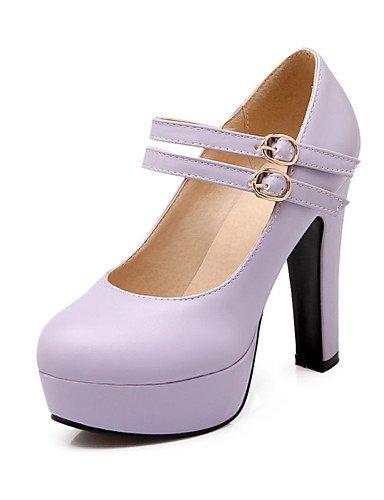 WSS 2016 Chaussures Femme-Bureau & Travail / Décontracté-Vert / Rose / Violet / Beige-Gros Talon-Talons / Bout Arrondi-Talons-Polyuréthane beige-us10.5 / eu42 / uk8.5 / cn43
