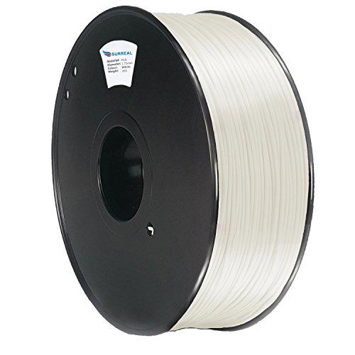 Surreal - ABS Filament 1.75mm - 1KG Rolle, Für 3D Drucker. Weiß / White