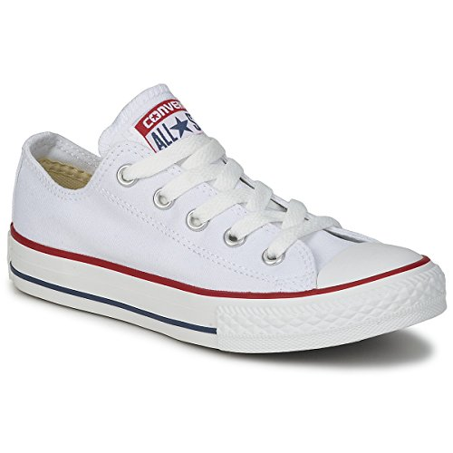 Converse Chuck Taylor all Star Core Lea Ox, Scarpe modalità Unisex Adulto, Bianco (Blanc - Blanc optique), 10 UK