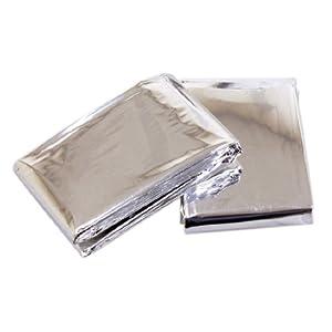 41PvuDfkBtL. SS300  - Rolson Emergency Blanket - 2 Pieces